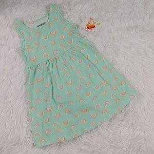 Baby Girl Aqua Green Dress Rainbows NWT